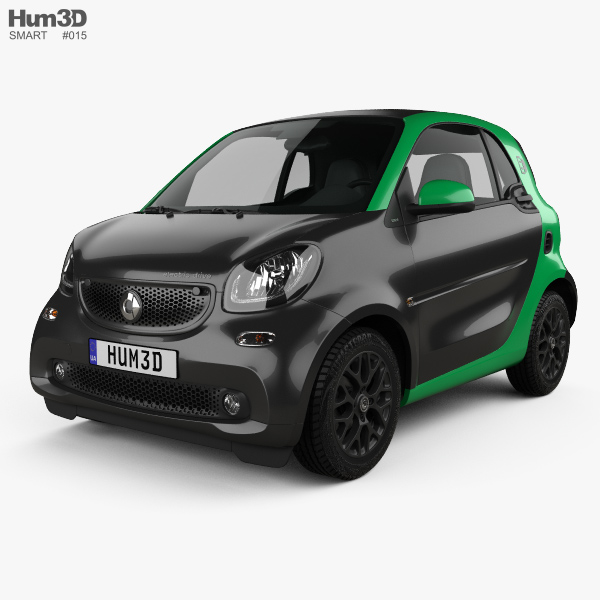 smart fortwo electric drive coupe 2017 3d model hum3d. Black Bedroom Furniture Sets. Home Design Ideas