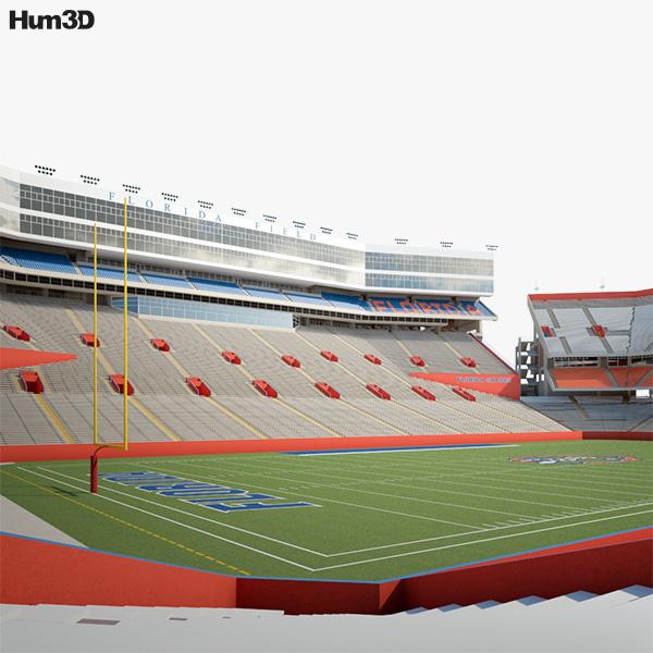 Stadium Lights Capacity: Ben Hill Griffin Stadium 3D Model