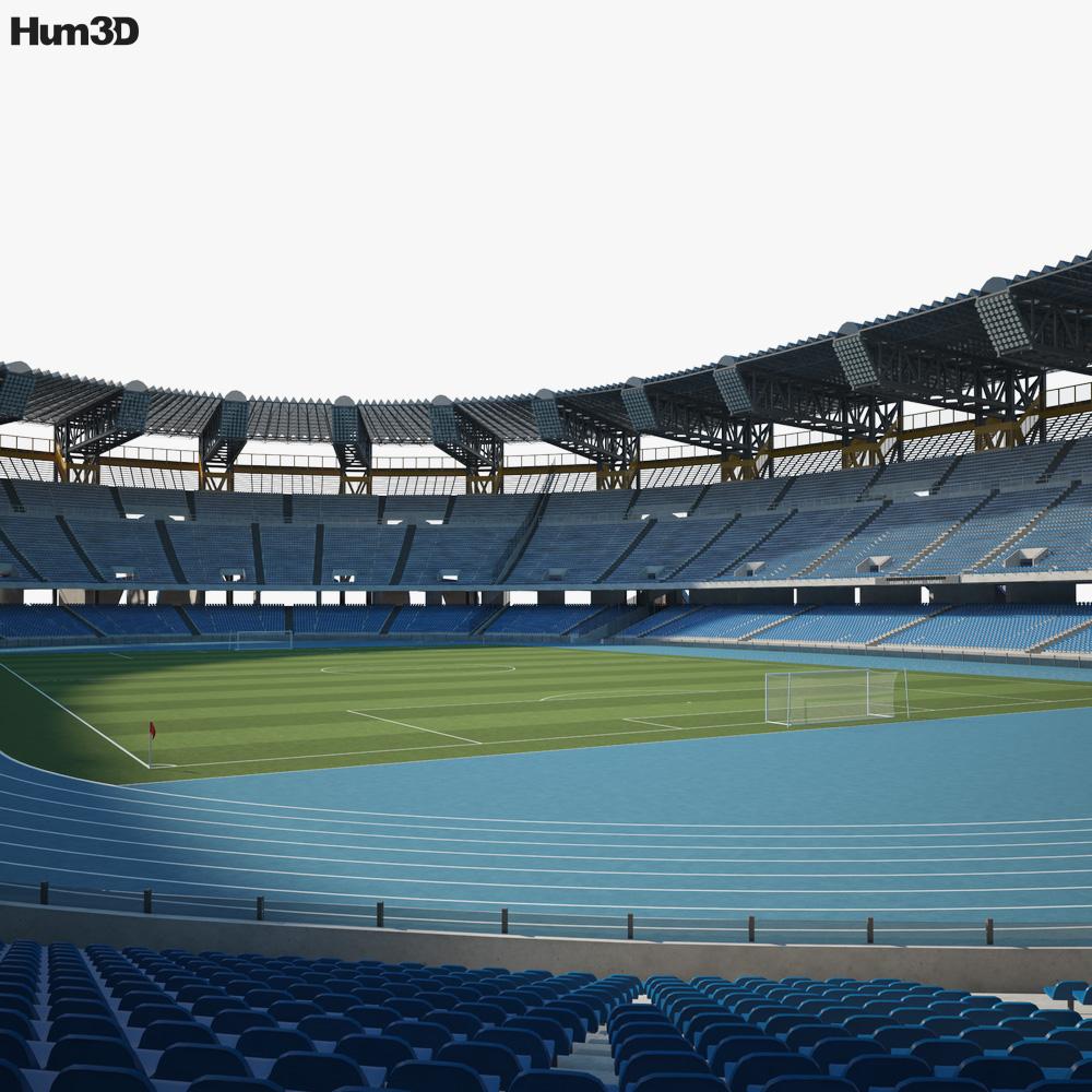 Stadio San Paolo 3d model