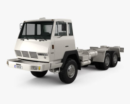 Steyr Plus 91 1491 Chassis Army Truck 1978 3D model