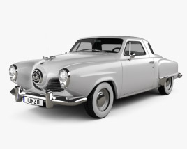 Studebaker Commander Starlight Coupe 1951 3D model