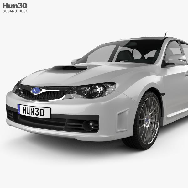Subaru Impreza Wrx Sti 2010 3d Model Hum3d