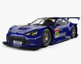 Subaru BRZ GT300 2013 3D model