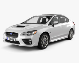 Subaru WRX with HQ interior 2014 3D model