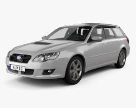 Subaru Legacy station wagon 2008 3D model