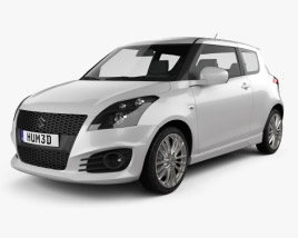 Suzuki Swift Sport hatchback 3-door 2014 3D model