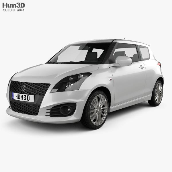 Suzuki Swift Sport: Suzuki Swift Sport Hatchback 3-door 2014 3D Model