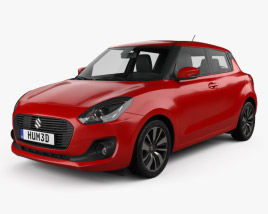 Suzuki Swift 2017 3D model