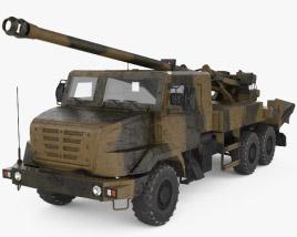 CAESAR self-propelled howitzer 3D model
