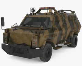 Wolf Armoured Vehicle 3D model
