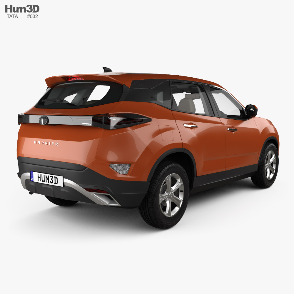 Tata Harrier with HQ interior 2019 3d model