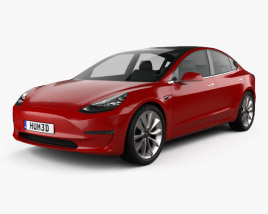Tesla Model 3 Prototype 2016 3D model