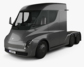 Tesla Semi Day Cab Tractor Truck 2018 3D model