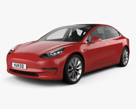 Tesla Model 3 with HQ interior 2018 3D model