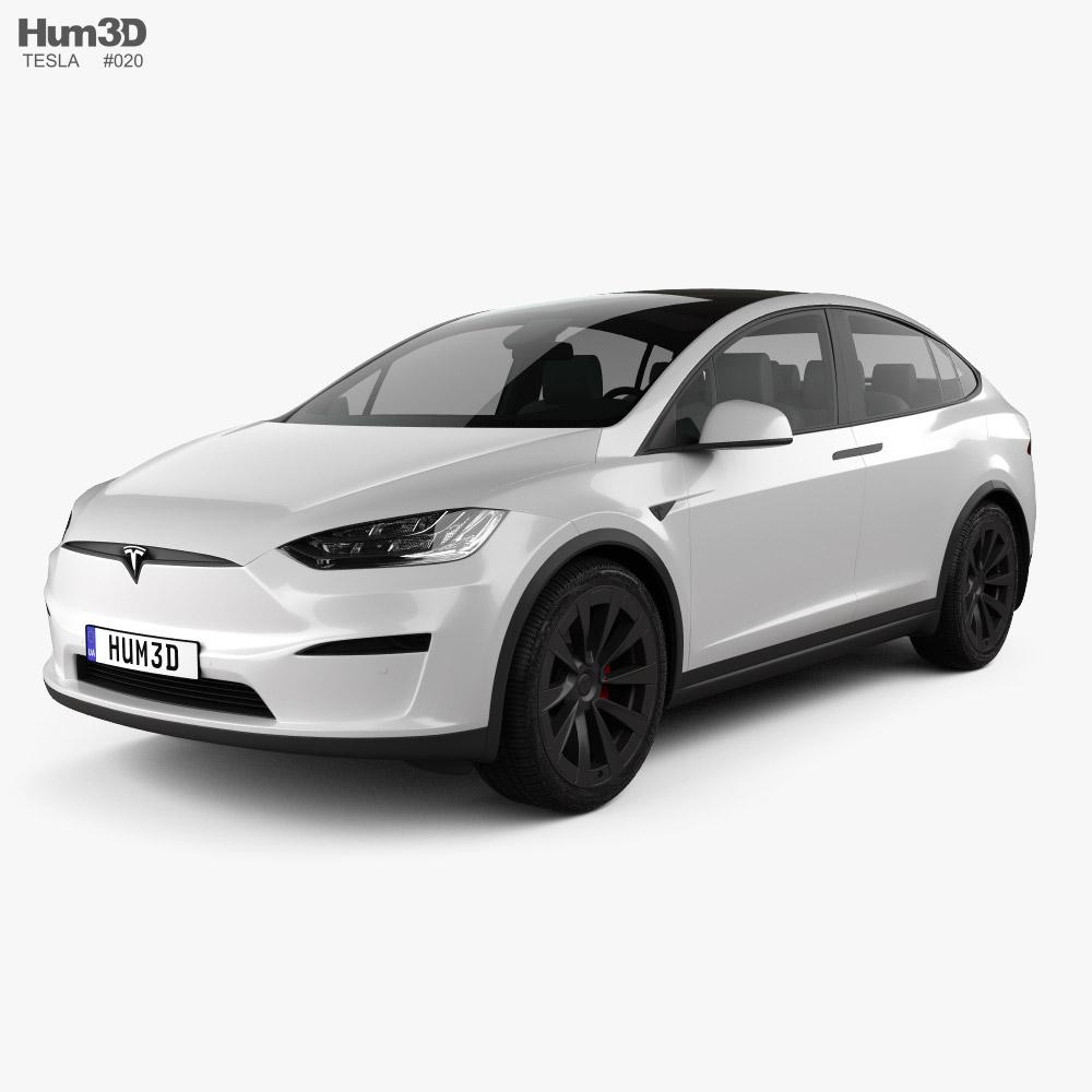Tesla Model X 2021 3d model