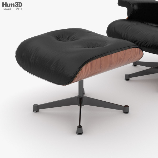 Sensational Eames Lounge Chair 3D Model Short Links Chair Design For Home Short Linksinfo