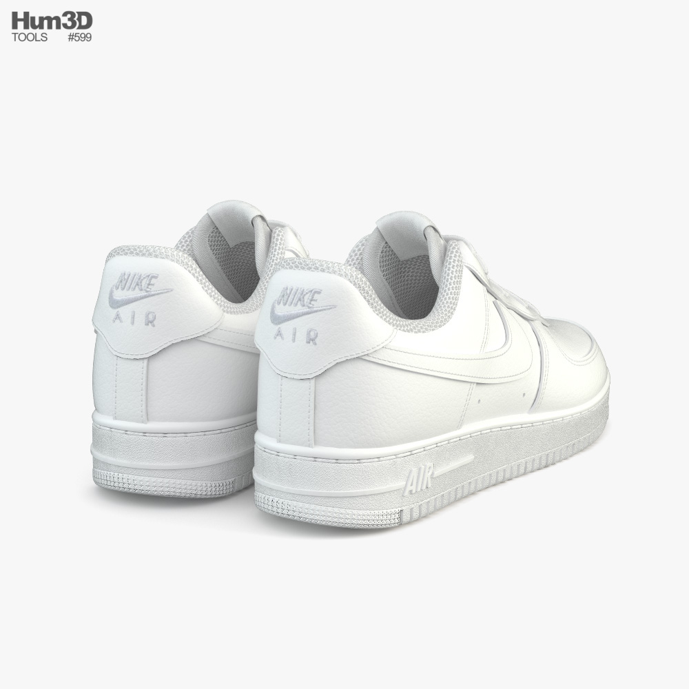 Nike Air Force 1 3D model - Clothes on