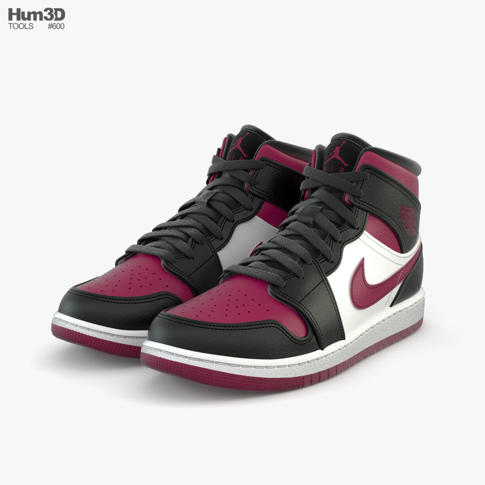 Lavandería a monedas Un pan Ecología  Nike Air Jordan 1 3D model - Clothes on Hum3D