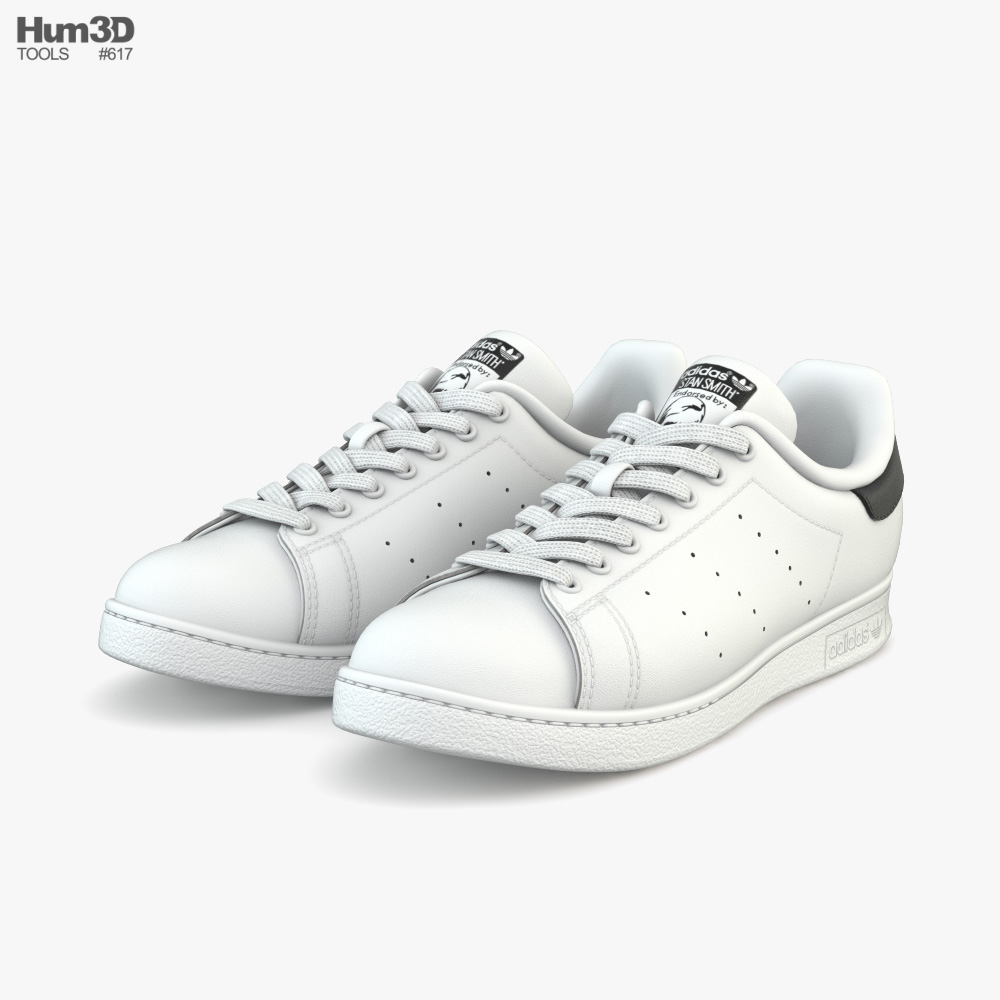 Adidas Stan Smith 3D model - Clothes on