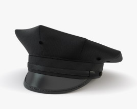 Eight Point Police Cap 3D model