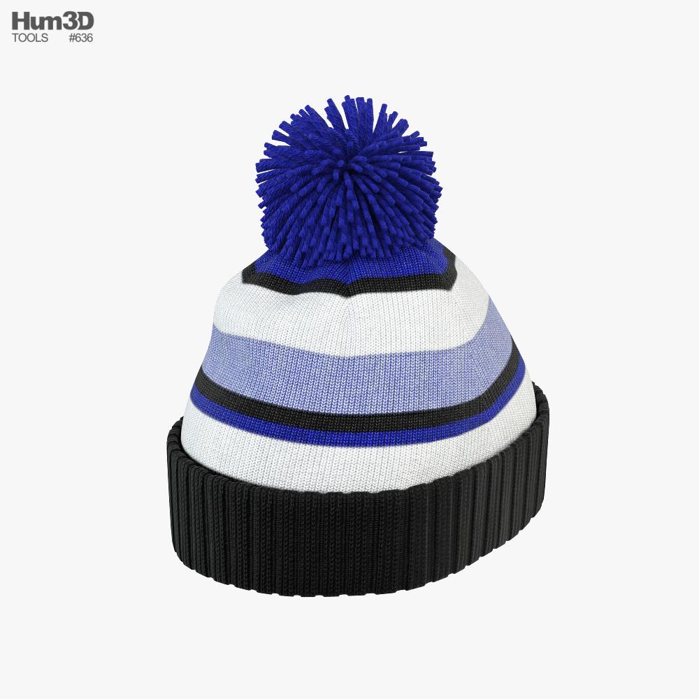 Winter Hat 02 3d model