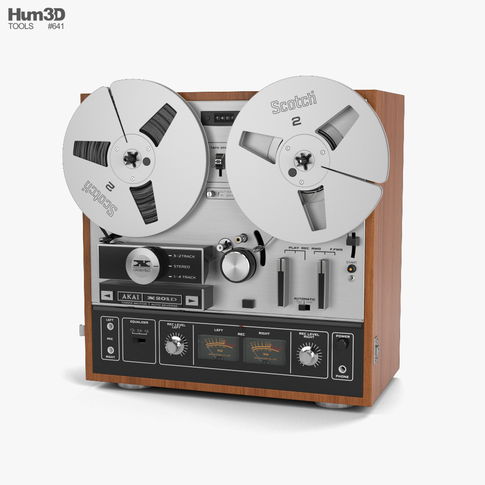 Reel-to-Reel Player 3d model