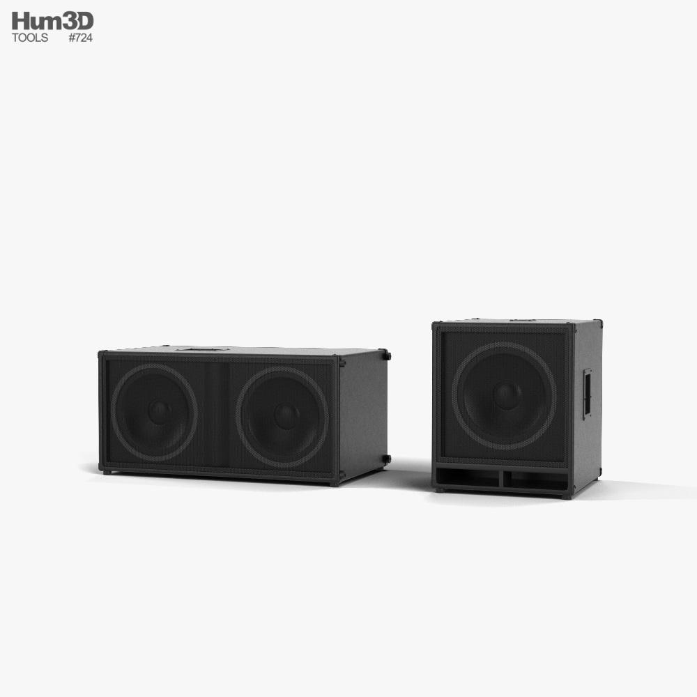 Concert Sound Speakers 3d model