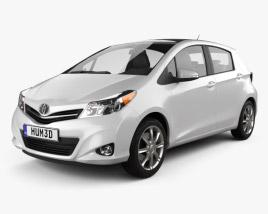 Toyota Yaris (Vitz) 5door 2012 3D model