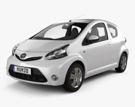 Toyota Aygo 3-door 2012 3D model
