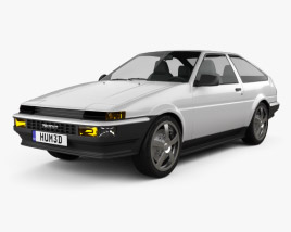 Toyota Sprinter Trueno AE86 3-door 1985 3D model