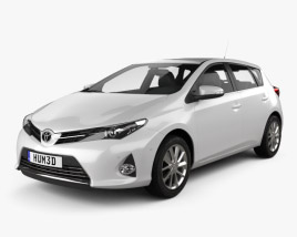 Toyota Auris hatchback 2013 3D model