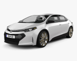 Toyota Corolla Furia 2013 3D model