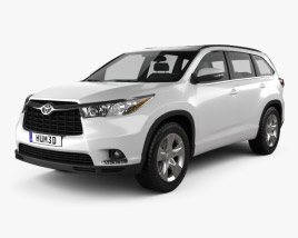 Toyota Highlander 2014 3D model