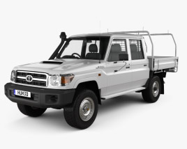 Toyota Land Cruiser (J70) Double Cab Pickup 2012 3D model