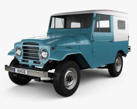 Toyota Land Cruiser (J20) softtop 1958 3D model