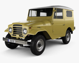 Toyota Land Cruiser (J20) hardtop 1955 3D model