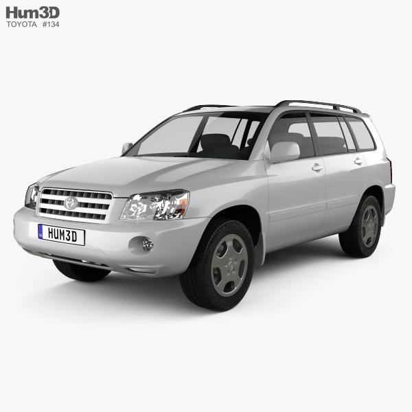 toyota highlander xu20 2003 3d model hum3d. Black Bedroom Furniture Sets. Home Design Ideas