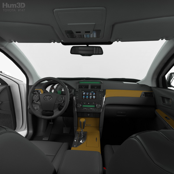 Toyota Camry with HQ interior 2011 3D model - Vehicles on Hum3DHum3D