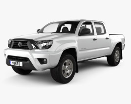 Toyota Tacoma Double Cab Short Bed 2012 3D model