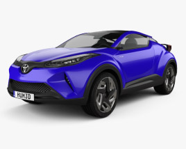 Toyota C-HR Concept 2014 3D model