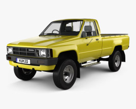 Toyota Hilux DX Long Body 1983 3D model