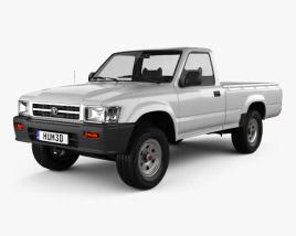 Toyota Hilux Double Cab 1988 3D model