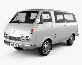 Toyota Hiace Passenger Van 1967 3D model