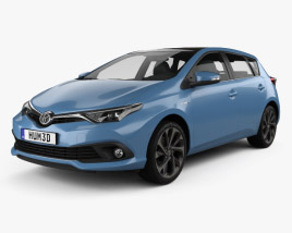 Toyota Auris hatchback Hybrid 2015 3D model