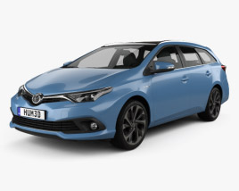 Toyota Auris Touring Sports Hybrid 2015 3D model