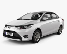 Toyota Yaris SE plus sedan 2014 3D model