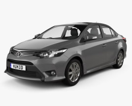 Toyota Yaris SE plus Sport sedan 2014 3D model