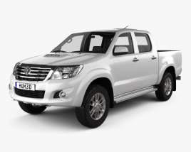 Toyota Hilux Double Cab with HQ interior 2015 3D model