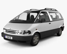 Toyota Previa 1990 3D model