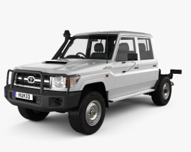 Toyota Land Cruiser (VDJ79R) Double Cab Chassis 2012 3D model